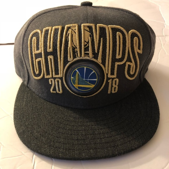 41edf0716e6 Golden State Warriors 2018 NBA Champions Hat